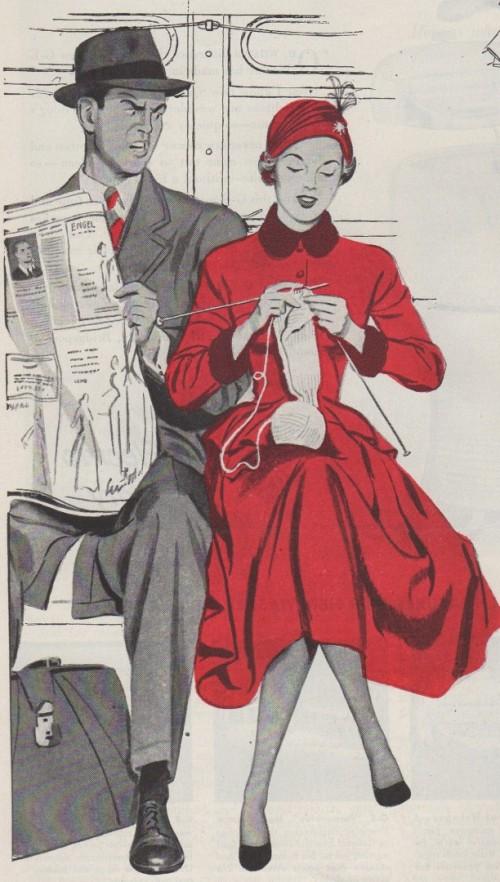 vintage knitting