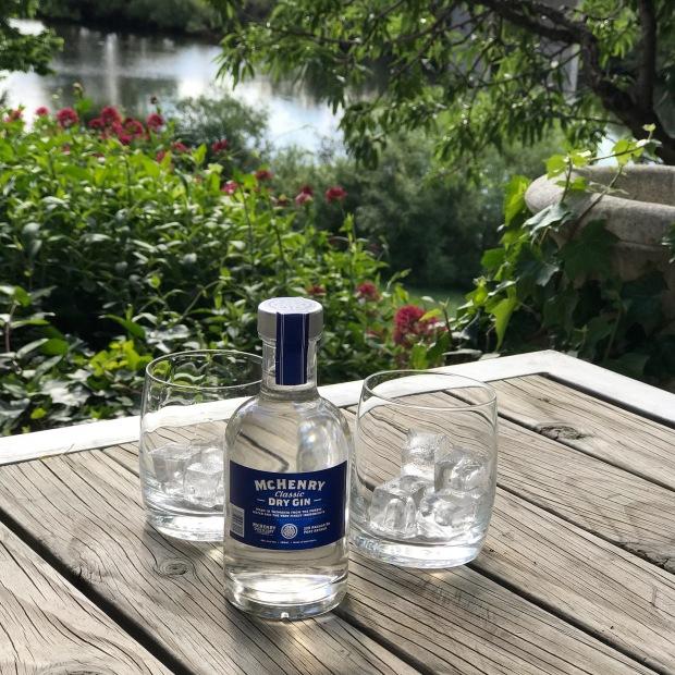 Late Afternoon Gin at Woodbridge on the Derwent, Tasmania
