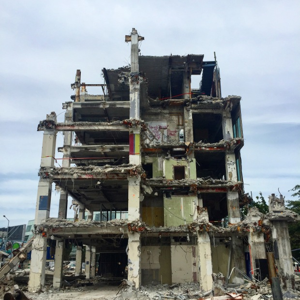 Demolished Building Post Earthquake Christchurch